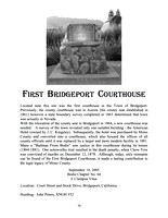 The First Bridgeport Court House - 9/10/05