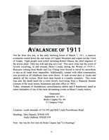 Avalanche of 1911 - 9/10/11