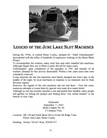 Legend of the June Lake Slot Machines - 9/11/10